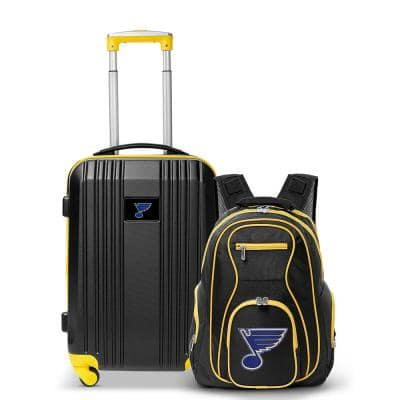 NHL ST Louis Blues 2-Piece Set Luggage and Backpack