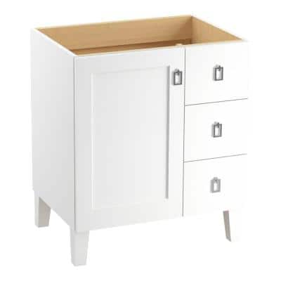 Kohler Poplin 24 In Bath Vanity Cabinet Only In Linen White K 99526 Lg 1wa The Home Depot