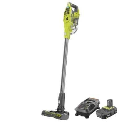 ONE+ 18V Brushless Cordless Compact Stick Vacuum Cleaner w/2.0 Ah Compact Battery, Dual Chemistry IntelliPort Charger