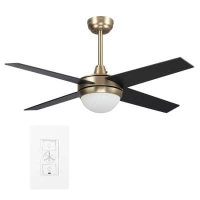 Nova 48 in. LED Indoor Gold Smart Ceiling Fan with Light Kit and Wall Control, Works with Alexa/Google Home/Siri