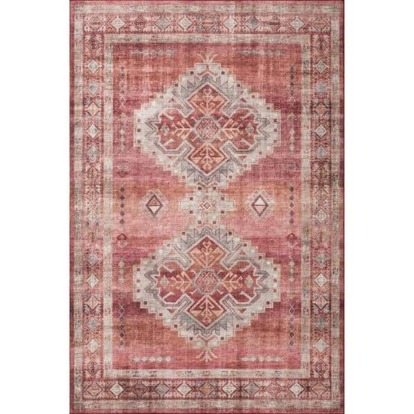 Loloi Ii Heidi Sunset Natural 2 Ft X 5 Ft Southwestern Polyester Pile Area Rug Heidhei 03ssna2050 The Home Depot