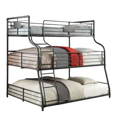 Queen Bunk Beds Kids Bedroom Furniture The Home Depot