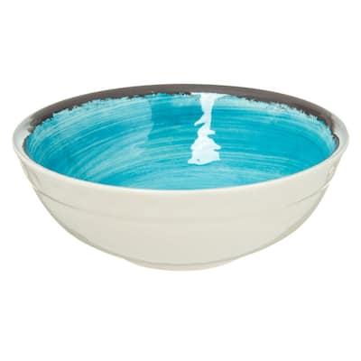 Mingle 17 oz. Aqua Melamine Small Bowl (12-Pack)