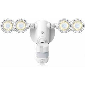 30-Watt 4000 Lumens 180-Degree White Motion Sensor Outdoor Integrated LED 5000K Waterproof Dusk to Dawn Flood Light