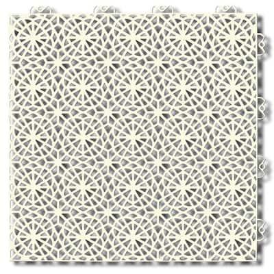 XL Tiles 14.96 in. x 14.96 in. 14 Tiles, 21.5 sq. ft. PVC Deck Tile in Sandstorm