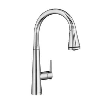 Edgewater Single-Handle Pull-Down Sprayer Kitchen Faucet with SelctFlo in Polished Chrome