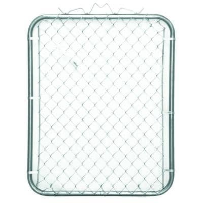 42 in. W x 48 in. H Galvanized Steel Bent Frame Walk-Through Chain Link Fence Gate