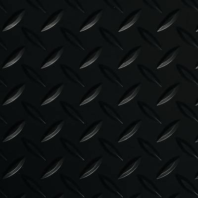 Diamond Tread 10 ft. x 24 ft. Midnight Black Commercial Grade Vinyl Garage Flooring Cover and Protector