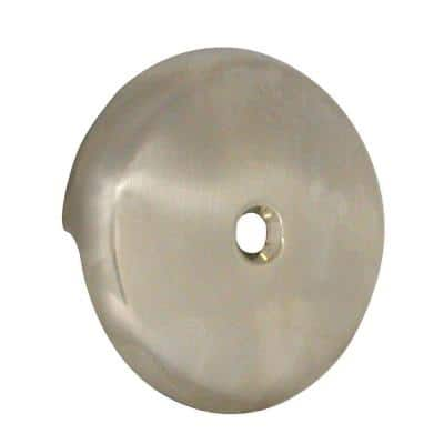 Single Hole Bathtub Drain Overflow Plate in Brushed Nickel