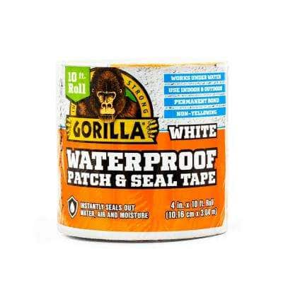 4 in. x 10 ft. Waterproof Patch and Seal Tape in White