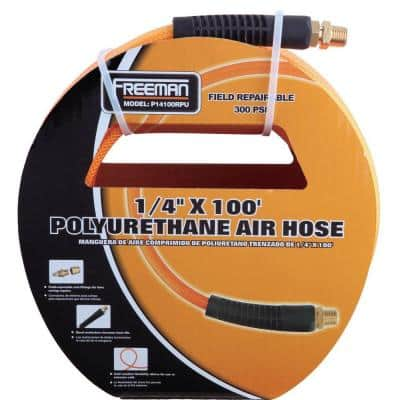 1/4 in. x 100 ft. Polyurethane Air Hose with Field Repairable Ends
