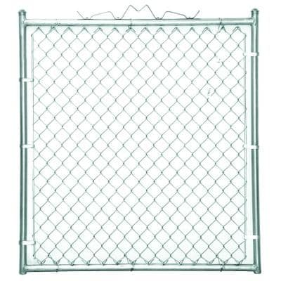 48 in. W x 48 in. H Galvanized Steel Welded Walk-Through Chain Link Fence Gate