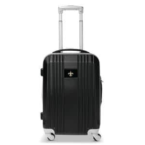 NFL New Orleans Saints 21 in. Black Hardcase 2-Tone Luggage Carry-On Spinner Suitcase