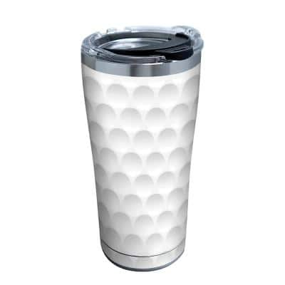 Golf Ball Texture 20 oz. Stainless Steel Tumbler with Lid