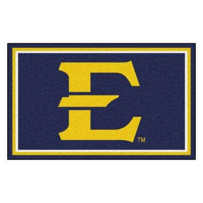 NCAA - East Tennessee State University Navy Blue 4 ft. x 6 ft. Area Rug