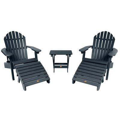 Hamilton Federal Blue 5-Piece Recycled Plastic Outdoor Conversation Set