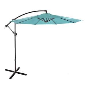 Bayshore 10 ft. Cantilever Hanging Patio Umbrella in Turquoise