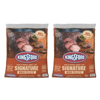 20 lbs. Signature Blend of Mesquite, Cherry, and Oak Wood Grilling Pellets (2-Pack)