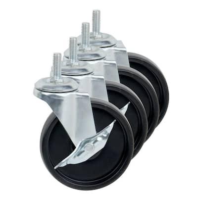 "4"" Caster Roller Wheels for HCD Shelving Unit, Set of Four"