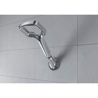 1-Spray 8 in. Single Wall Mount Fixed Shower Head in Chrome