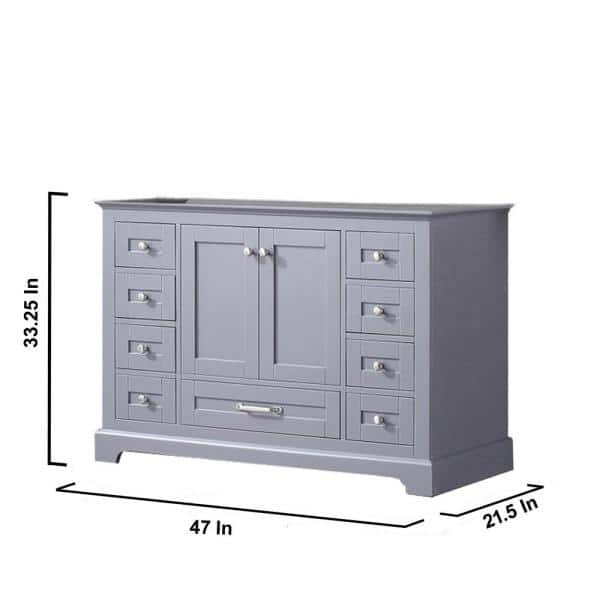 Lexora Dukes 48 Inch Single Bathroom Vanity Cabinet With Mirror In Dark Grey Ld342248sb00m46 The Home Depot