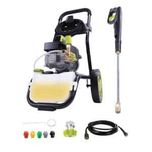 Commercial Series 1800 PSI Max 1.6 GPM Electric Pressure Washer with Wall Mount and Roll Cage