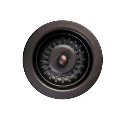 3.5 in. Kitchen, Prep and Bar Basket Strainer Drain, Oil Rubbed Bronze