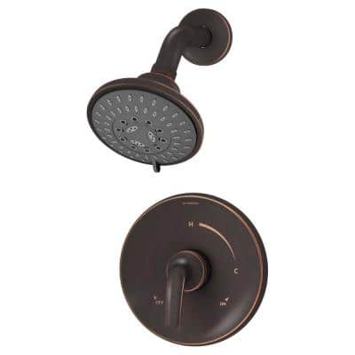 Elm Single Handle 5-Spray Wall-Mounted Shower Trim Kit in Seasoned Bronze (Valve not Included)