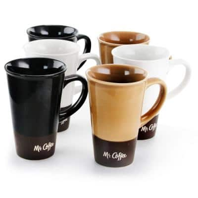Cafe Zortea 16 oz. and 3-Assorted Colors Cup (Set of 6)