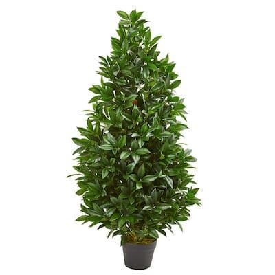 4 ft. Indoor/Outdoor Bay Leaf Artificial Topiary Tree
