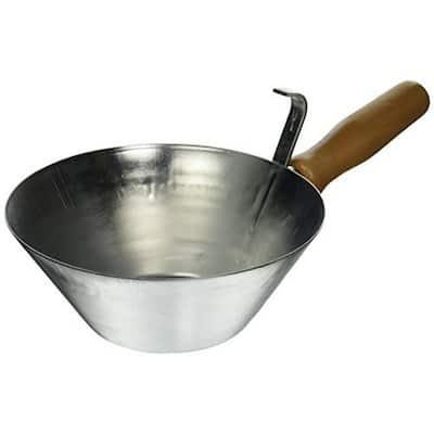 Galvanized Steel Bucket Scoop with Wood Handle