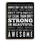 """9 in. x 12 in. """"Fitness Motivation"""" by Cheryl Overton """"Solid Wood"""" Wall Art"""