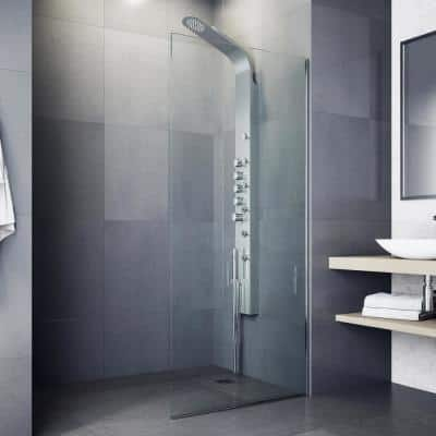 Brielle 71 in. 6-Jet High Pressure Shower Panel System with Fixed Rainhead and Handheld Dual Shower in Stainless Steel