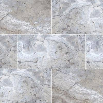 16 in. x 24 in. Silver Tumbled Gray Travertine Paver Tile (60-Pieces/160.2 sq. ft./Pallet)