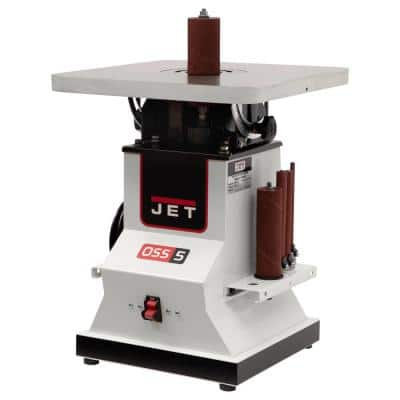 1/2 HP 5.5 in. Benchtop Oscillating Spindle Sander with Spindle Assortment, 110-Volt JBOS-5