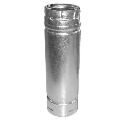 PelletVent 3 in. x 12 in. Double-Wall Chimney Stove Pipe