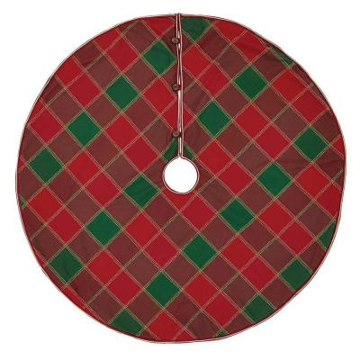 48 in. Tristan Cherry Red Traditional Christmas Decor Tree Skirt