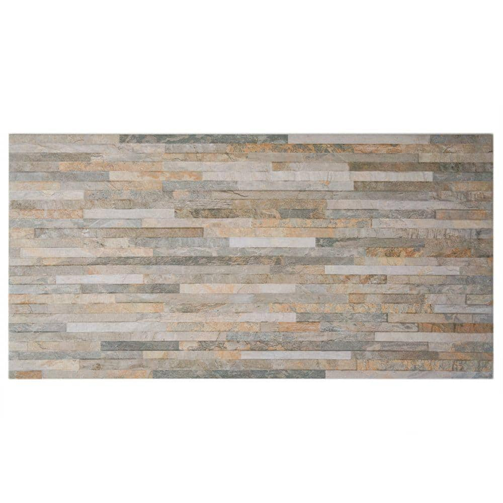 Merola Tile Muro Ardesia Ocre 12 1 2 In X 24 1 2 In Porcelain Wall Tile 10 96 Sq Ft Case Wgfmurao The Home Depot