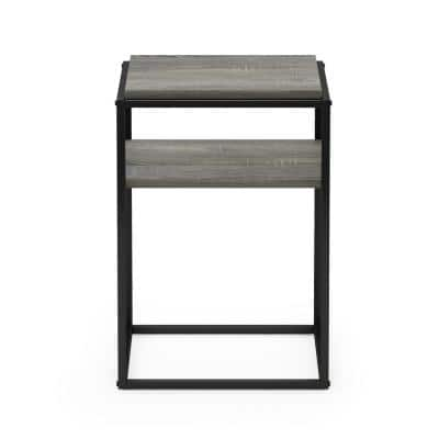 Moretti 21.9 in. French Oak Grey Modern Lifestyle 2 Shelf Stackable Etagere Bookcase