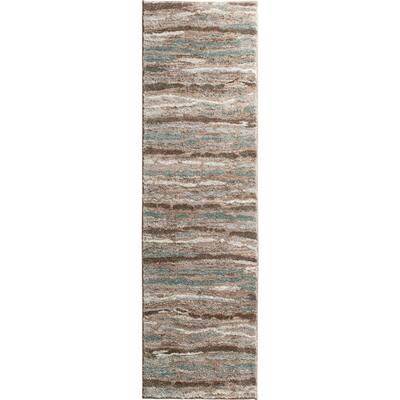 Shoreline Multi 2 ft. x 7 ft. Striped Runner Rug