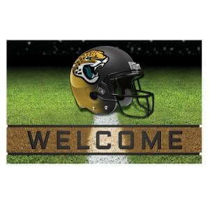 NFL - Jacksonville Jaguars 18 in. x 30 in. Rubber Door Mat