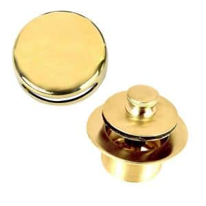 1.865 in. Overall Diameter x 11.5 Threads x 1.25 in. Lift and Turn Trim Kit, Polished Brass