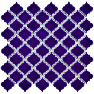 Hudson Tangier Cobalt Blue 12 in. x 12 in. Porcelain Mosaic Tile (10.96 sq. ft. / Case)