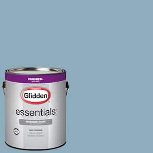 Glidden Essentials 1 Gal Hdgv19u Quiet Blue Eggshell Interior Paint Hdgv19ue 01en The Home Depot