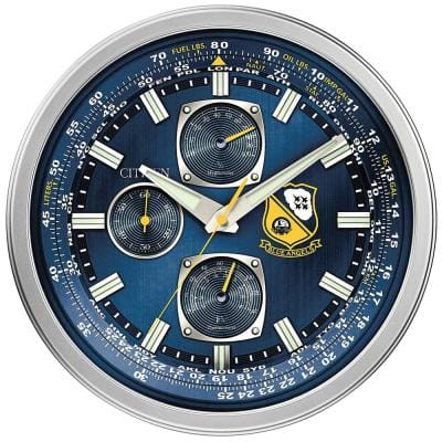 CC2030 Indoor Outdoor Wall Mounted Blue Angels Clock with Thermometer