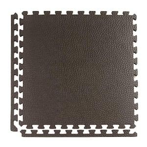 Pebble Top Lite Black 24 in. x 24 in. x 0.39 in. Foam Home Gym Interlocking Floor Tile (Case of 25)