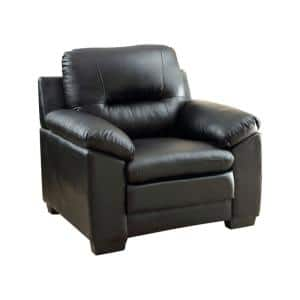 Parma Contemporary 40.25 in. H Black Leather Chair