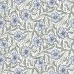 Windsor, Imogen Light Blue Floral Paper Strippable Wallpaper Roll (Covers 56.4 sq. ft.)