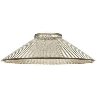 2-15/16 in. Ribbed Antique Mirror Shade with 2-1/4 in. Fitter and 9-7/8 in. W