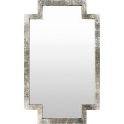 Oversized Rectangle Silver Contemporary Mirror (65 in. H x 40 in. W)